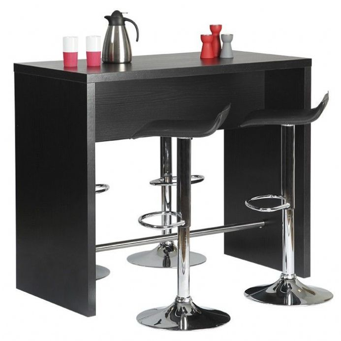Designer black ash bar table unit
